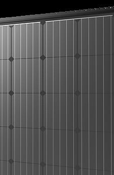 pannello fotovoltaico total black in silicio monocristallino alta efficienza perc