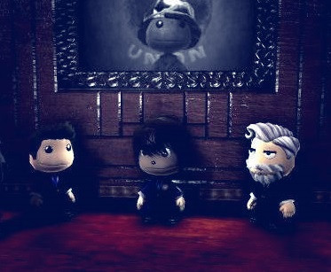 A screenshot from LittleBigPlanet containing Lgmpm, M88youngling, and CCSocalGamer.