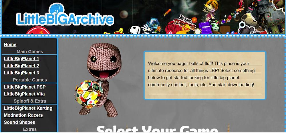 Shanzenos's website, LittleBigArchive