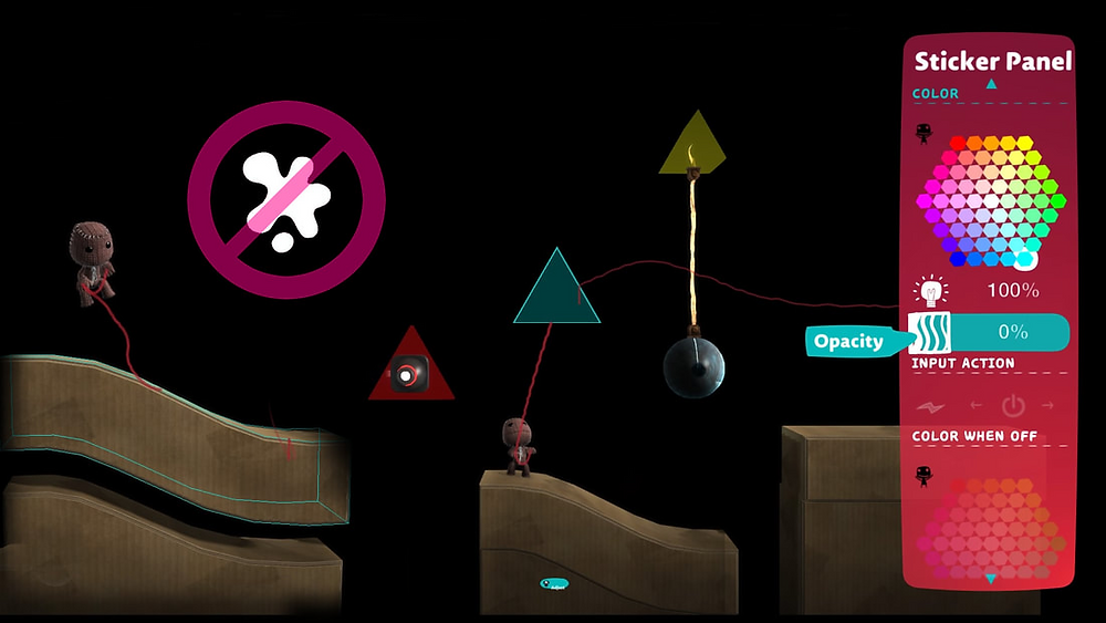 A screenshot of LBP3 showing how to create modular level designs.