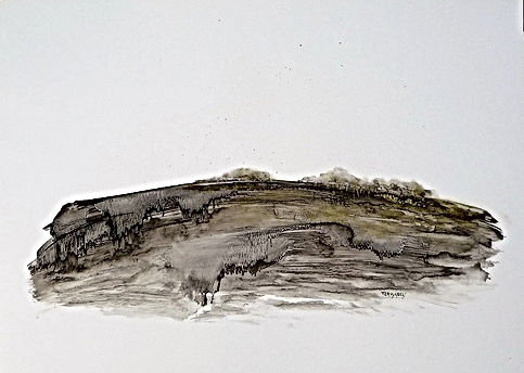 Danielle Waechter, paysage4,papier, 60x8