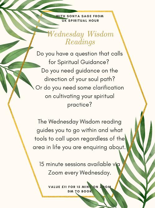 Wednesday Wisdom Readings