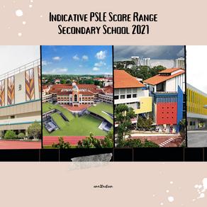 Indicative PSLE Score Range and COP Secondary School Singapore 2021