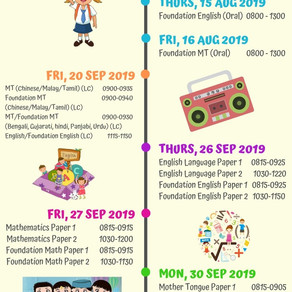 PSLE Timetable 2019: Important Dates to Note