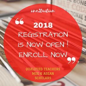 Registration for 2018