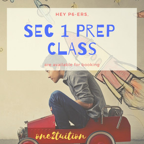 5 Things You Will Earn from one2tuition Sec 1 Prep Class