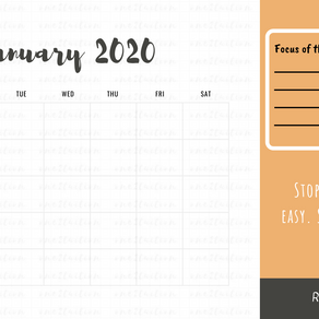 [Free Printables] Downloadable Motivational Calendar 2020