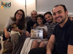 Paulo, Barbara, Pedro, Giovanna, Leo e Jake
