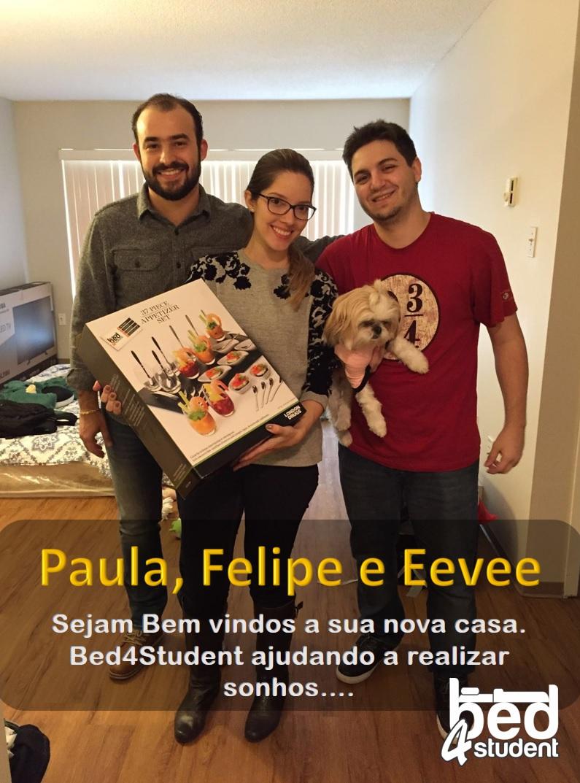 Paula, Felipe e Eevee