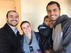 Eduardo, Michelle e Thiago