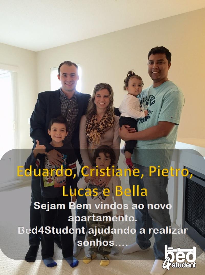 Eduardo, Cristiane, Pietro, Lucas e Bella