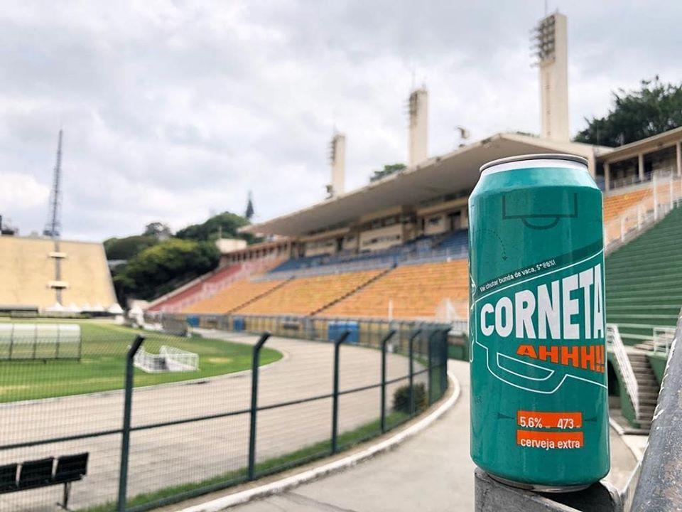 Cerveja Corneta estadio pacaembu