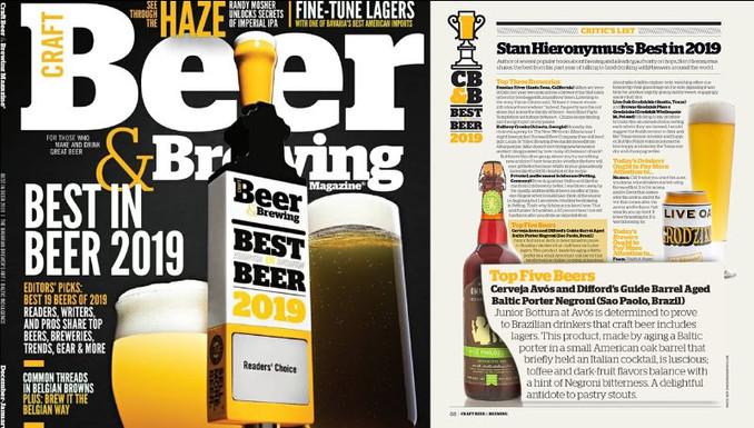 Cervejaria Avós aparece na lista de Melhores do Ano em revista americana