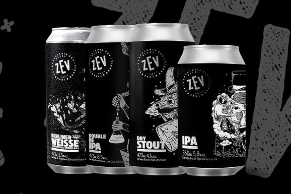 Cervejaria Zev lança mais 4 rótulos em lata