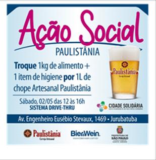 Paulistânia realiza nova arrecadação de alimentos e itens de higiene em troca de cerveja artesanal