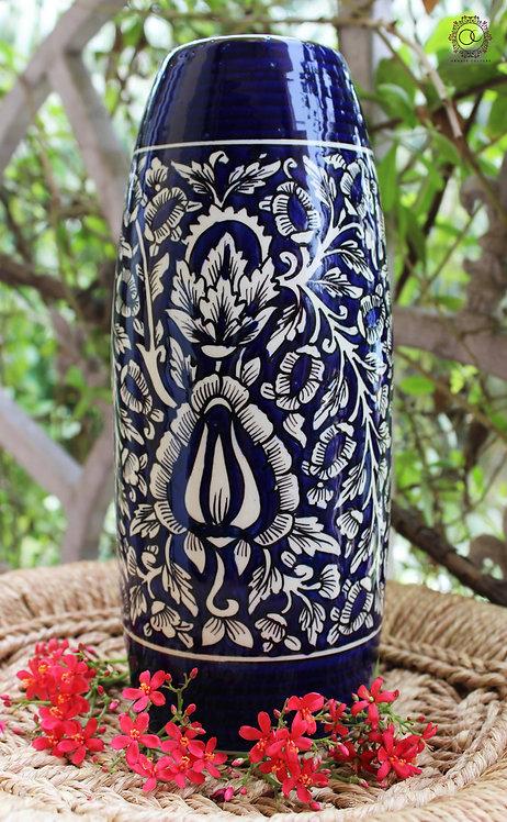 Ornate Culture Blue Floral Vase