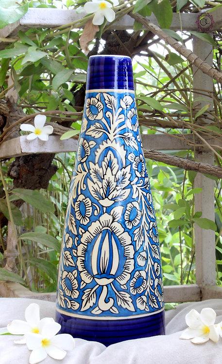 Ornate Culture Floral Vase (Bottle)