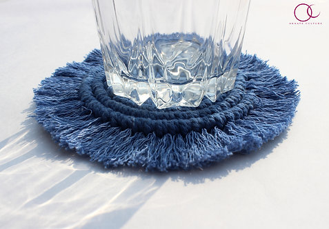 Blue Round Coaster