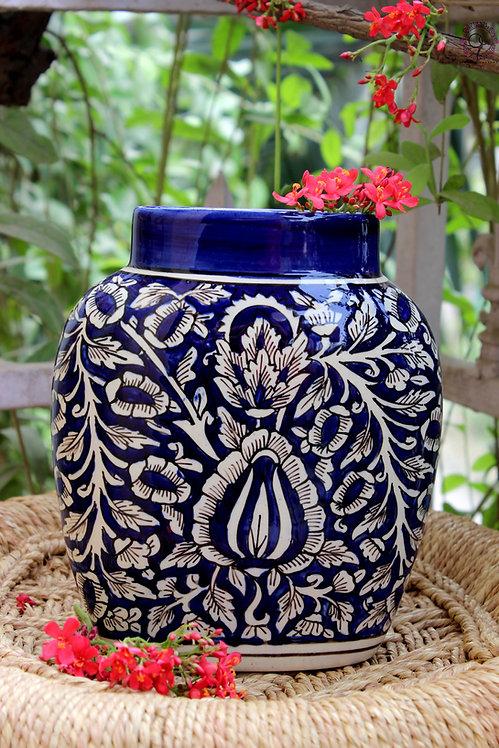 Ornate Culture Floral Flat Vase