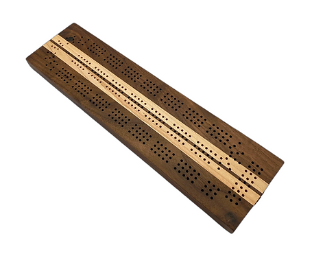 Walnut/Maple Cribbage Board