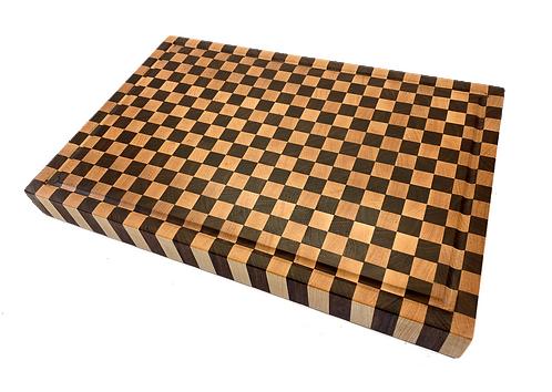 Checkered End Grain Cutting Board
