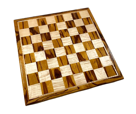 Marblewood/Curly Maple Chess Board