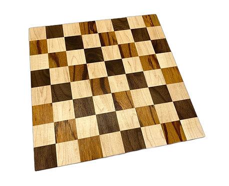 Small Walnut/Marblewood Chess Board