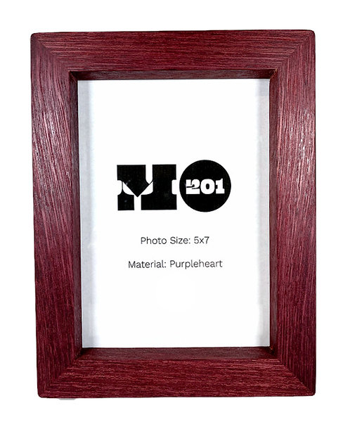 5x7 Purpleheart Picture Frame