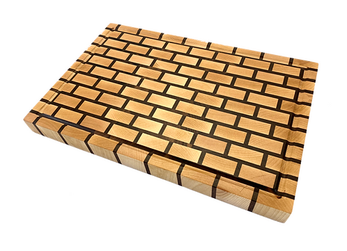 End Grain Brick Cutting Board