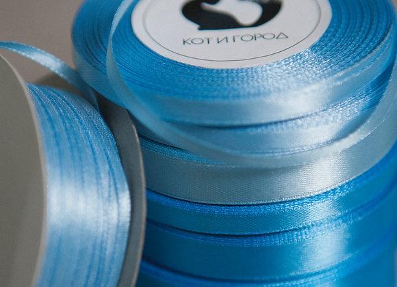 Лента атласная Голубых оттенков