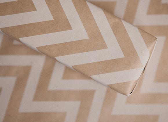 Бумага крафт в белый зиг-заг