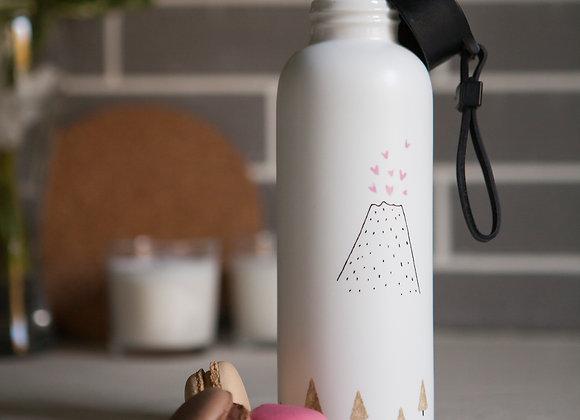 Керамическая бутылочка для воды и напитков. Вулкан