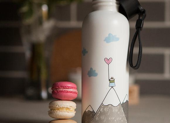 Керамическая бутылочка для воды и напитков. Гора