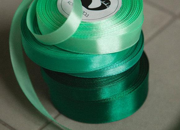 Лента атласная Зеленые оттенки