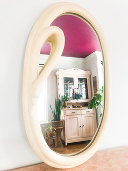 Vintage Italian Swan Mirror