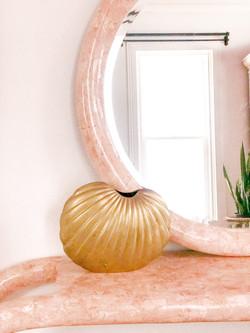Brass Shell Vase