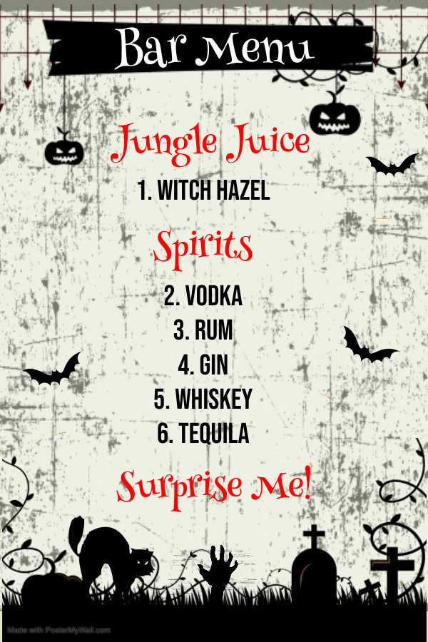 Copy of Halloween Menu Template - Made w