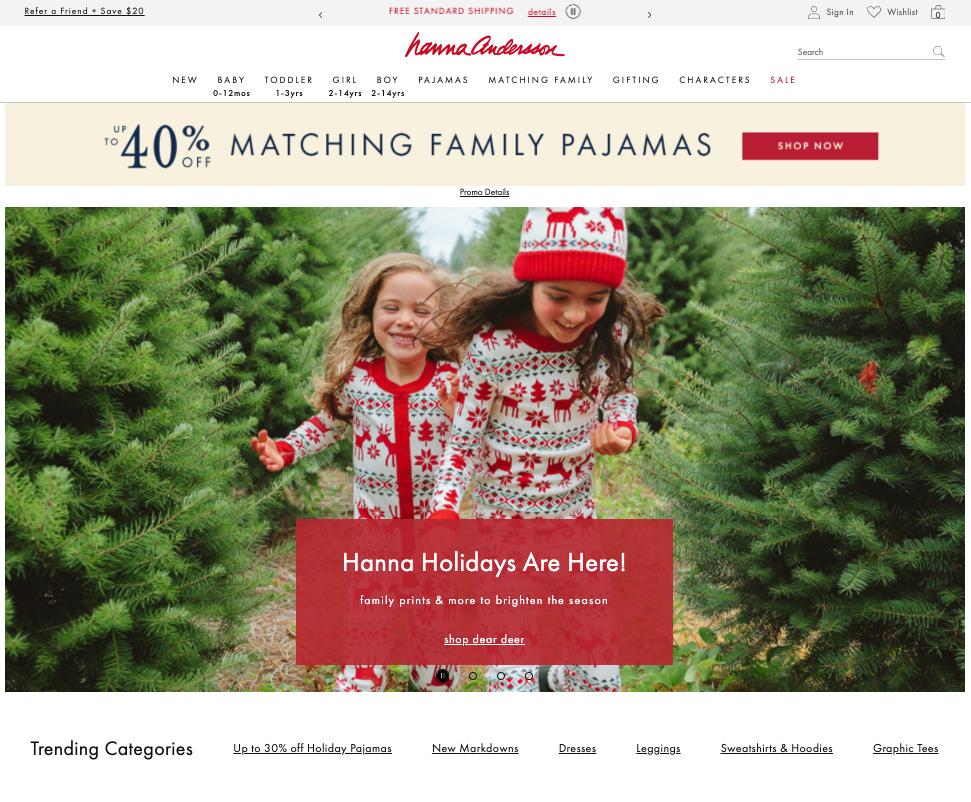 Hanna Andersson website