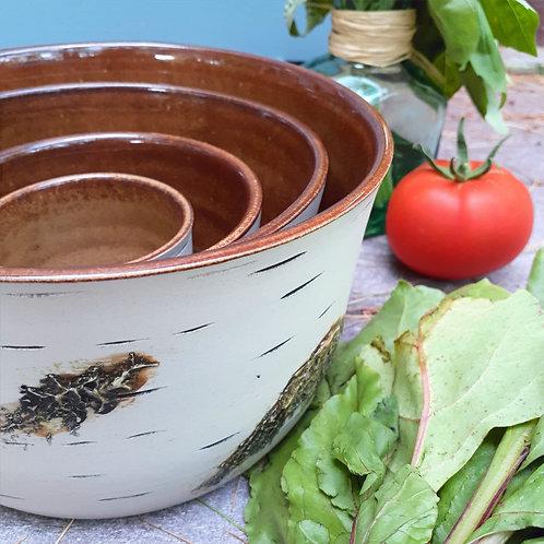 Brown Mixing Bowl Set