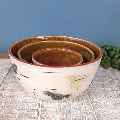 Brown/Pink Bowls