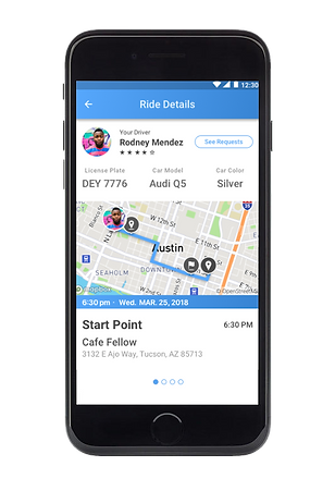 GoEzy app managed carpools