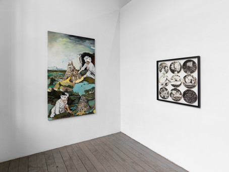 Juin 2021 The Grass is Greener Gallery Duo show with Sigrid v. Lintig Leipziger Baumwollspinnerei