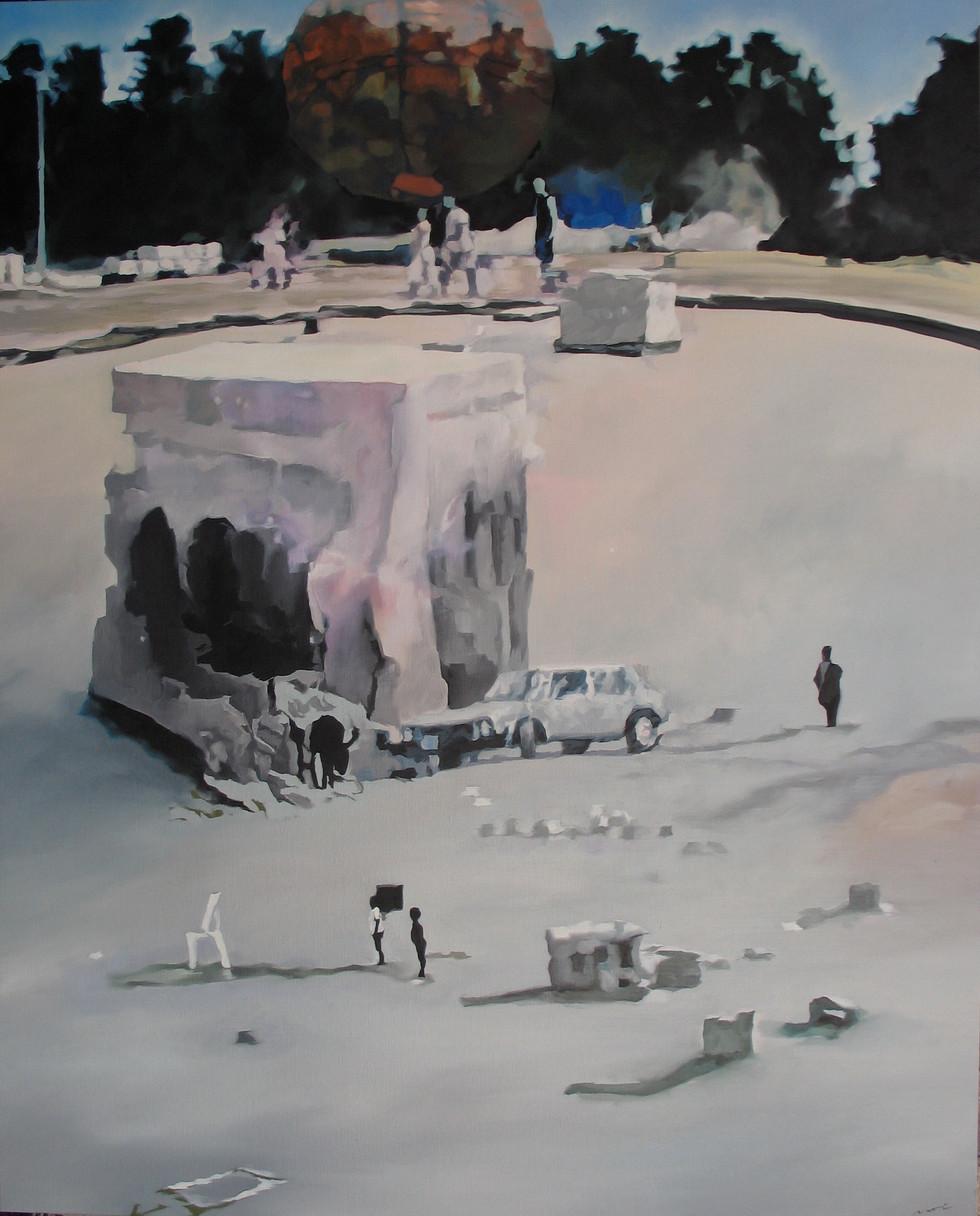 Les miettes, Huile sur toile, 130 x 162 cm, 2008(collection particulière, Göteborg, Suède)