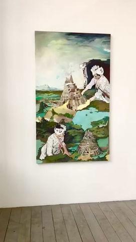 Element The Grass is Greener Gallery Duo show Sigrid v. Lintig Barbara Navi Leipzig