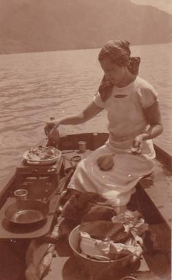 Thérèse au lac de Côme