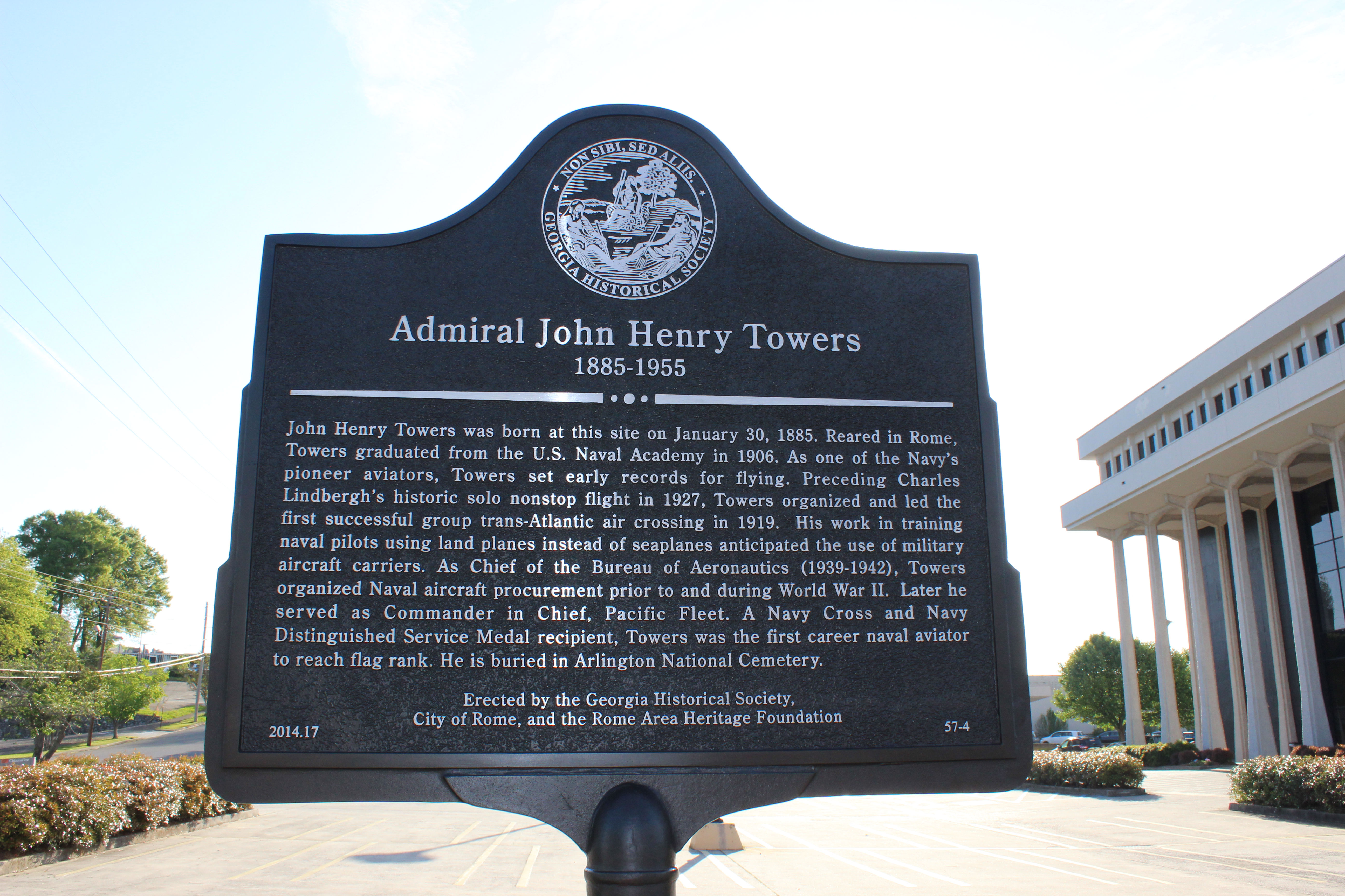 Marker Monday- Admiral John Henry Towers
