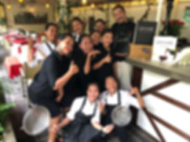 The team of L'Annexe Frenh restaurant Siem Reap Cambodia