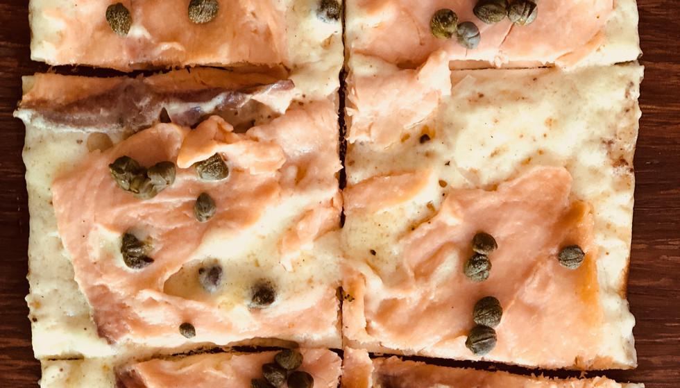 French pizza salmon / Flammekueche au saumon