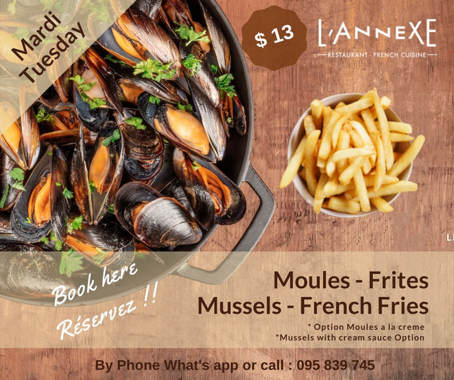 Mussels - French fries / Moules frites a L'Annexe French restaurant
