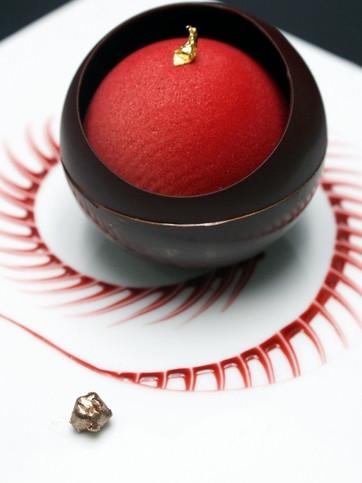 The black pearl Soufflé Grand Marnier